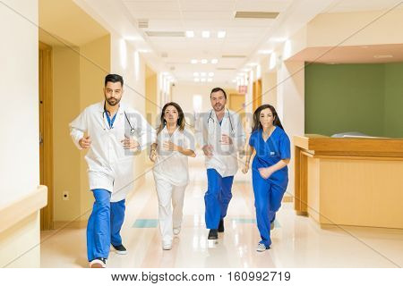 Doctors Running During An Emergency