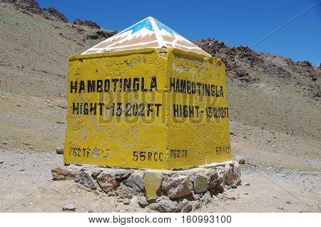 Hambotingla pass in Himalaya in Ladakh, in India
