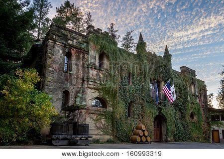 Chateau Montelena At Sunset