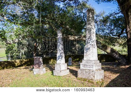 Old Family Cemetery In California