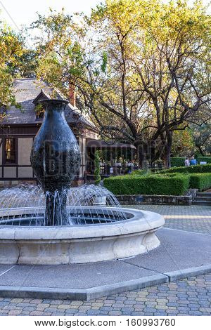 Water Fountain At Beringer Winery