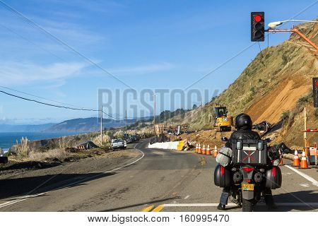 Road Construction On The Coast