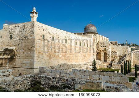 Al-Aqsa Mosque Temple Mount in Old City of Jerusalem Israel