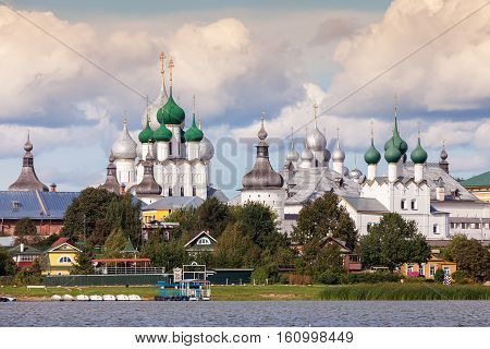 Rostov Kremlin view from Lake Nero Golden Ring of Russia