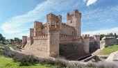 Wide angle view of Castillo de la Mota in Medina del Campo, Castille, Spain poster