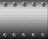 steel metall plate with bolts metall background poster
