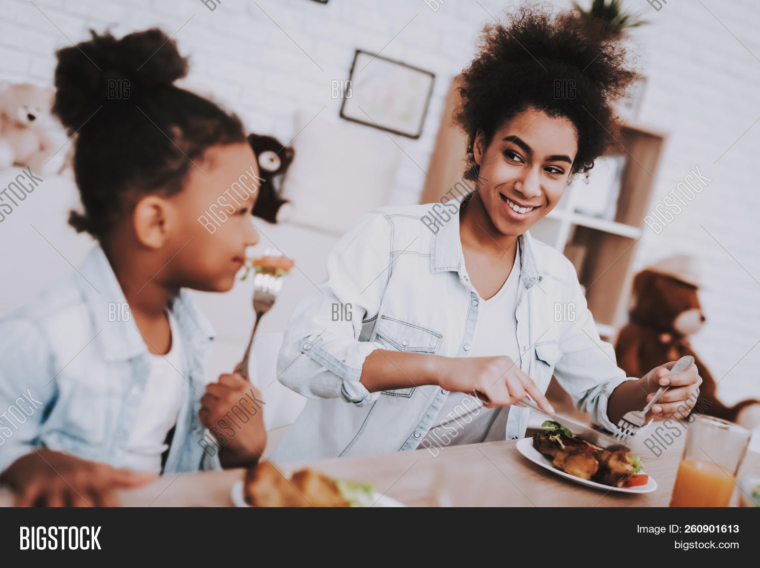 Girls Breakfast Image & Photo (Free Trial) | Bigstock