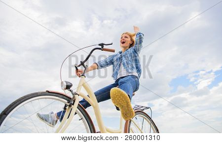 Most Satisfying Form Of Self Transportation. Cycling Gives You Feeling Of Freedom And Independence.