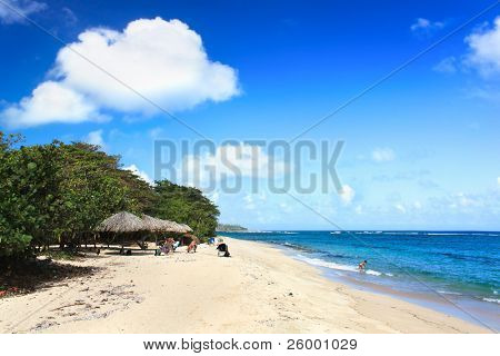 Beautiful tropical  beach Maguana at the Guantanamo province, Cuba