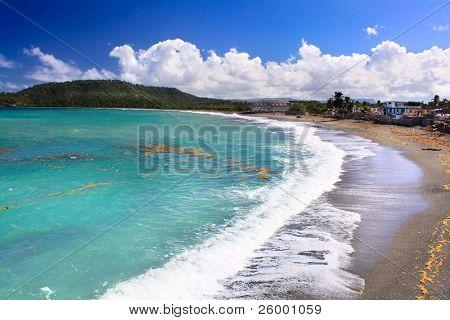Beautiful tropical  beach in Baracoa, Guantanamo province, Cuba