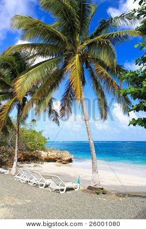 Small romantic tropical sand beach in the Guantanamo province, Cuba