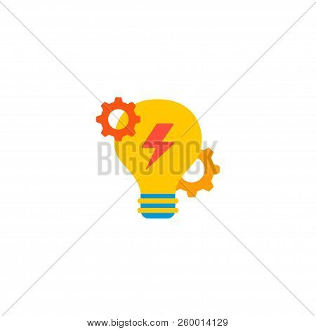 Brainstorm Icon Flat Element. Vector Illustration Of Brainstorm Icon Flat Isolated On Clean Backgrou