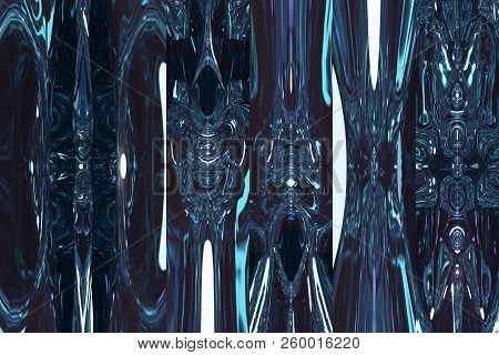 Fantastic Blue Shining Space. Abstract Blue Background.