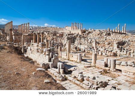 Ancient Jerash ruins,(the Roman ancient city of Geraza), Jordan poster