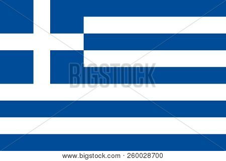 Greece. Greek national flag. Correct proportion. Vector illustration poster