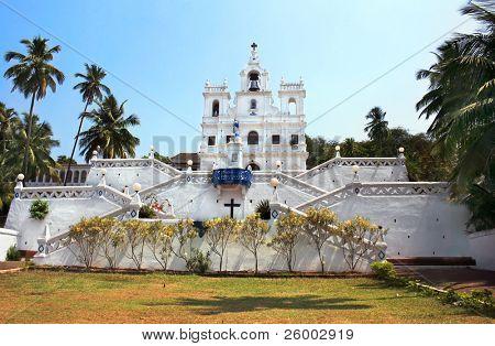 Ora Pronobis Catholic Church in Goa, India poster