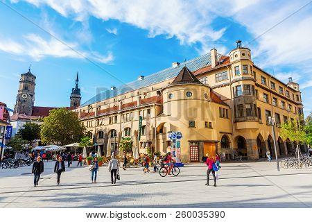 Square In The Center Of Stuttgart, Germany