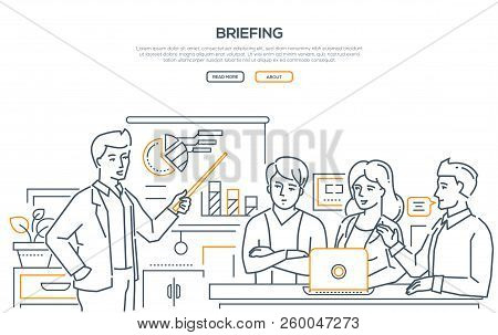 Briefing - Modern Line Design Style Web Banner