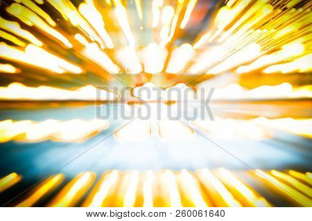 Abstract Sporting Background Image Ethereal Converging Pattern Fading To Center.