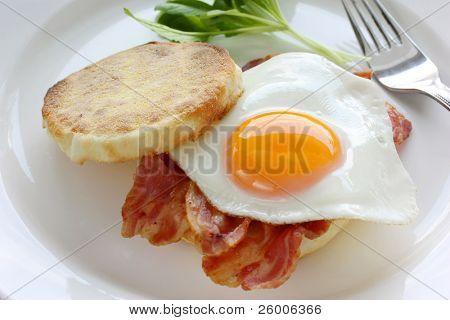 Bacon & Egg, English Muffin Breakfast Sandwich