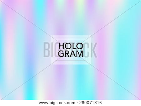 Princess Hologram Neon Vector Background. Bright Trendy Tender Pearlescent Glam Overlay. Cool Funky