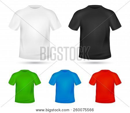 Blank T-shirt Template. Tee Graphic Concept. Change Colors Mock-up T Shirt Printing Design. Replace