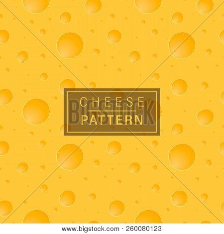 Cheese Background Pattern. Bright Yellow Seamless Pattern.