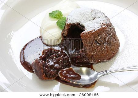 Hot Chocolate Pudding , Fondant au chocolat