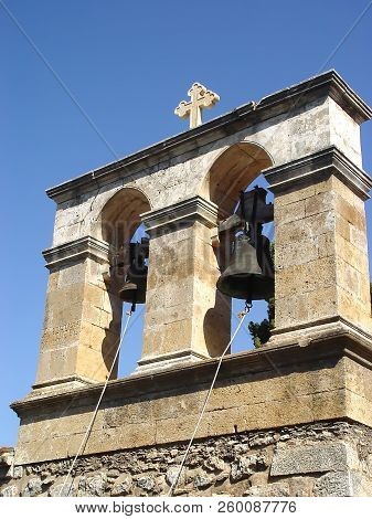Belfry In The Greek Temple In Crete