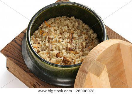 takikomi gohan , japanese mixed rice poster