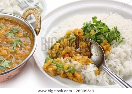 tarka dal , red lentils curry , indian dish