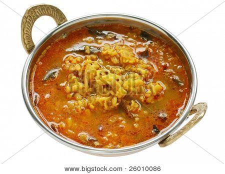 yellow mung dal curry in kadai poster