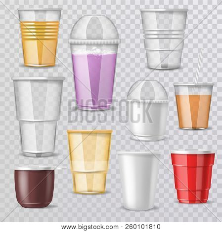 Plastic Glass Vector Vector Photo Free Trial Bigstock
