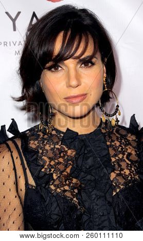 Lana Parrilla arrives at the 9th Annual Face Forward Gala at the Beverly Wilshire Hotel in Beverly Hills, CA on Sept. 22, 2018.