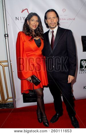 Christine Devine, Sean McNabb arrive at the 9th Annual Face Forward Gala at the Beverly Wilshire Hotel in Beverly Hills, CA on Sept. 22, 2018.