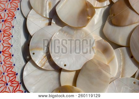 Nacre Seashell Background Texture In View In The View