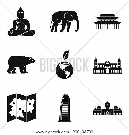 Way Of Journey Icons Set. Simple Set Of 9 Way Of Journey Icons For Web Isolated On White Background