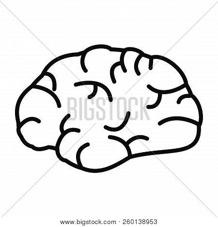 Brainstorming Icon. Outline Brainstorming Icon For Web Design Isolated On White Background