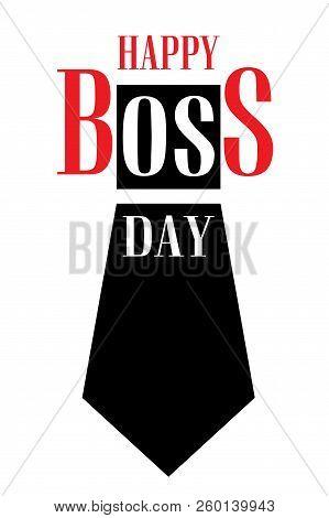 Boss Day Concept Background. Cartoon Illustration Of Boss Day Concept Background For Web Design
