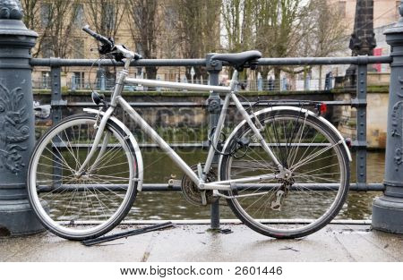 Bicycle On Riverside