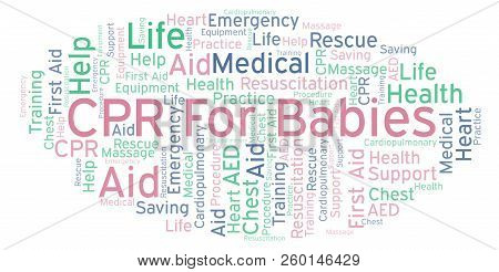 Cpr For Babies Word Cloud, Made With Text Only