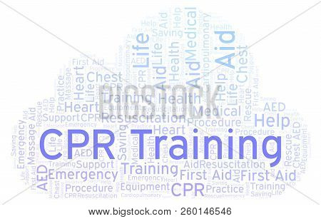 Cpr Training Word Cloud, Made With Text Only