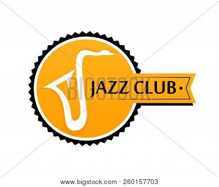 Round Logo For Sax Club In Yellow Color