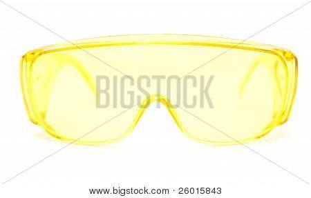 protective eyeglasses on white background