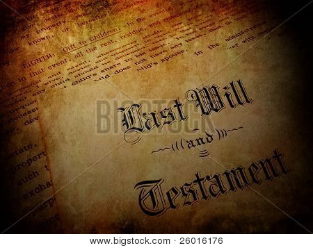 Vintage Last Will And Testament