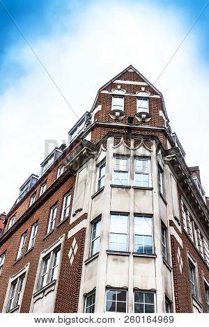 Old Red Brick Building On Peerless Street .london. Borough Of Islington
