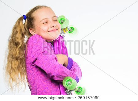 Child Hold Penny Board. Choose Skateboard That Looks Great And Also Rides Great. Penny Board Of Her