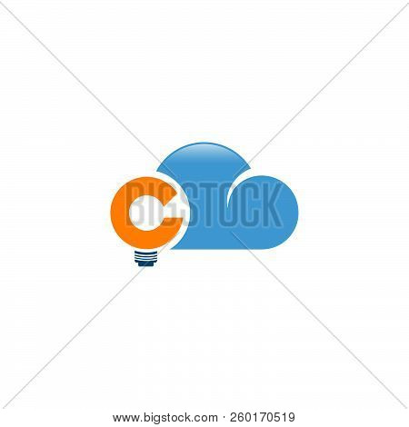 Abstract Letter C Cloud Vector Icon Flat Design. Cloud Icon Web Cloud Icon Art Cloud Icon Cloud Icon