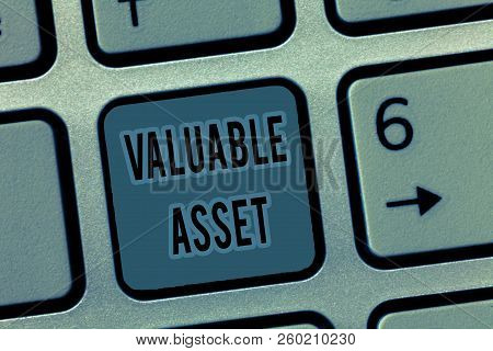 Handwriting Text Valuable Asset. Concept Meaning Your Most Valuable Asset Is Your Ability Or Capacit