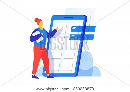 The Concept Of Mobile Application Development. The Process Of Building A Smartphone Interface. Proto